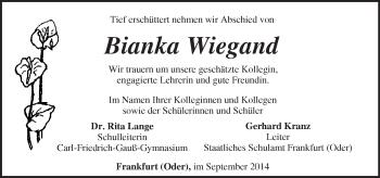 Zur Gedenkseite von Bianka