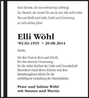 Zur Gedenkseite von Elli