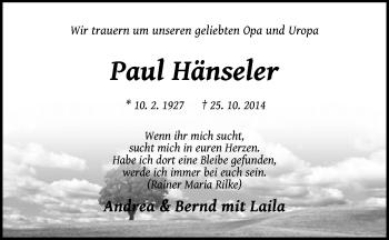 Zur Gedenkseite von Paul
