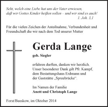 Zur Gedenkseite von Gerda