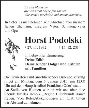 Zur Gedenkseite von Horst