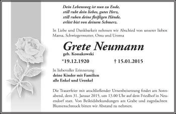 Zur Gedenkseite von Grete