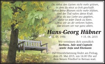 Zur Gedenkseite von Hans-Georg