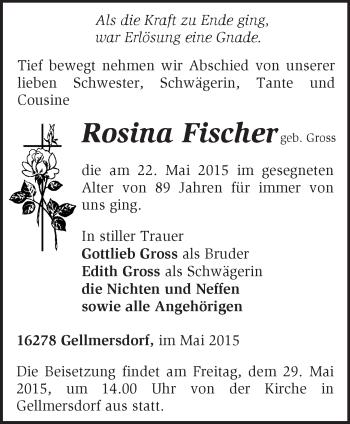 Zur Gedenkseite von Rosina