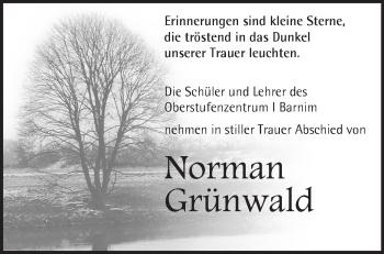 Zur Gedenkseite von Norman