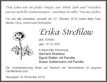 Traueranzeige Erika Stream