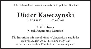 Traueranzeige Dieter Kawczynski