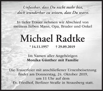 Traueranzeige Michael Radtke