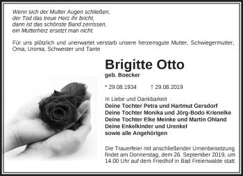 Traueranzeige Brigitte Otto