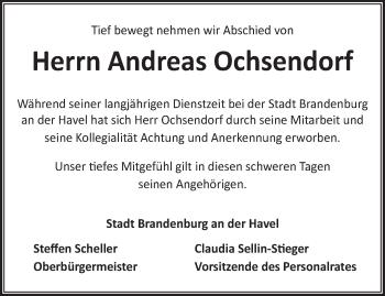Anzeige Andreas Ochsendorf