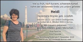 Anzeige Heidi Brucker
