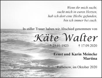 Anzeige Käte Walter