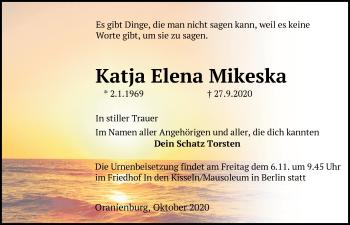Anzeige Katja Elena Mikeska