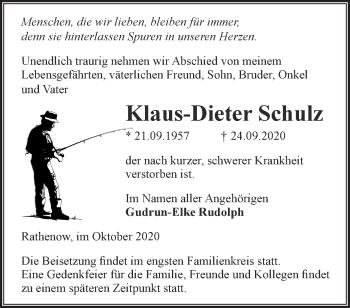 Anzeige Klaus-Dieter Schulz