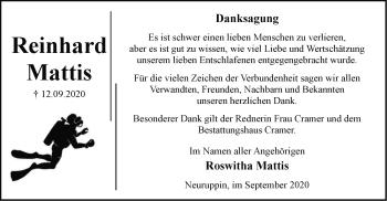 Anzeige Roswitha Mattis
