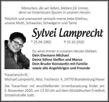 Anzeige Sylvei Lamprecht