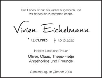 Anzeige Vivien Eichelmann