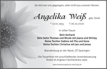 Anzeige Angelika Weiß