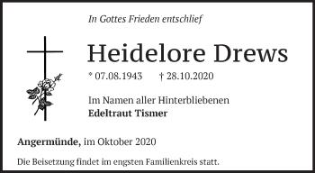 Anzeige Heidelore Drews