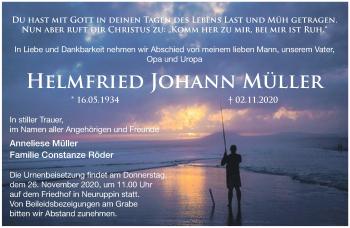 Anzeige Helmfried Johann Müller