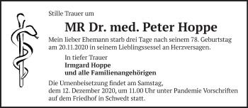 Anzeige Peter Hoppe