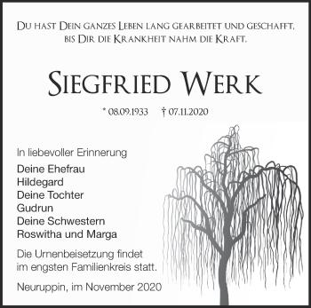 Anzeige Siegfried Werk