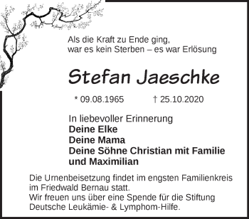 Anzeige Stefan Jaeschke