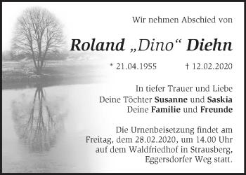 Traueranzeige Roland Diehn