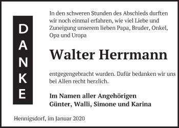 Traueranzeige Walter Herrmann