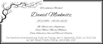 Anzeige Daniel Minkwitz