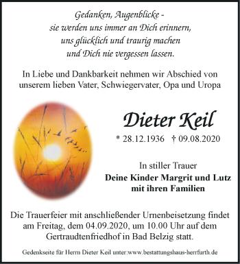 Anzeige Dieter Keil