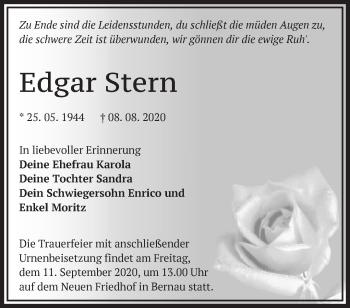 Anzeige Edgar Stern