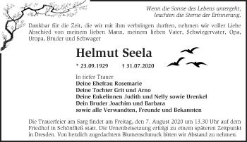 Anzeige Helmut Seela