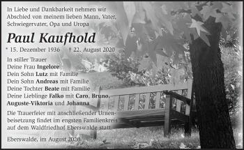 Anzeige Paul Kaufhold