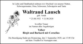 Anzeige Waltraud Lausch