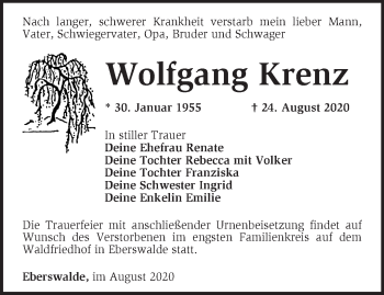 Anzeige Wolfgang Krenz