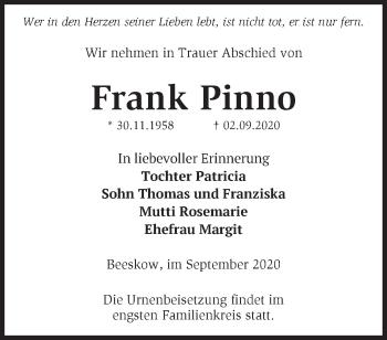 Anzeige Frank Pinno