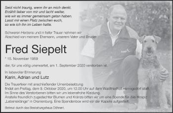 Anzeige Fred Siepelt