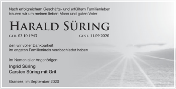 Anzeige Harald Süring
