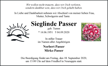 Anzeige Sieglinde Passer