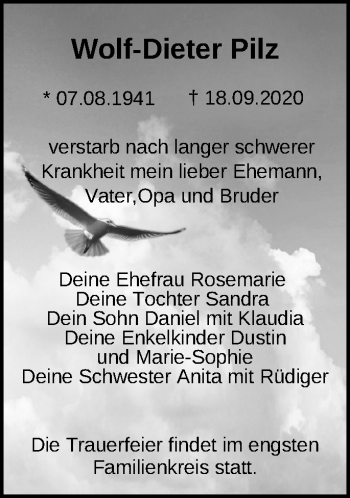 Anzeige Wolf-Dieter Pilz