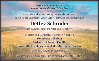Anzeige Detlev Schröder