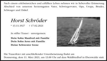 Anzeige Horst Schröder