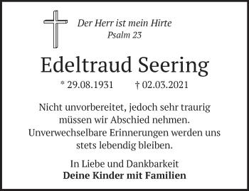 Anzeige Edeltraud Seering