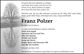 Anzeige Franz Polzer