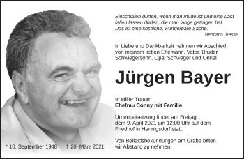 Anzeige Jürgen Bayer