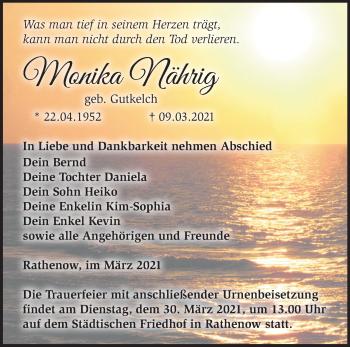 Anzeige Monika-Helga Nährig
