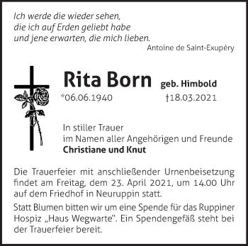 Anzeige Rita Born