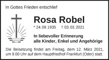 Anzeige Rosa Robel