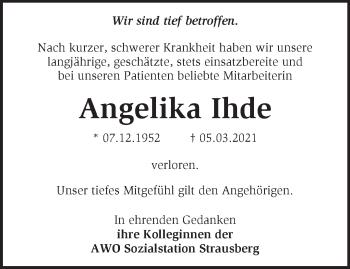Anzeige Angelika Ihde